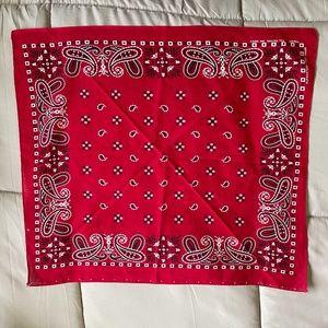 Soft Cotton Red Bandana